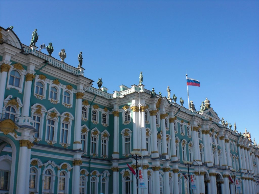 Der Winterpalast in Sankt Petersburg
